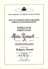 1994 3 mesto rac 5 razred