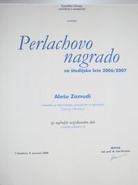 2008 UM Perlachova nagrada najboljse raziskovalno delo tehniskih ved