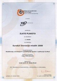 2008 eureka-plaketa