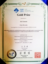 2012 SIIF invention Seoul South Korea GOLD