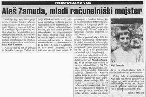 Tednik Aleš Zamuda (6. razred programiranje)